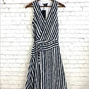 Armani Exchange Women's Striped V-neck Dress